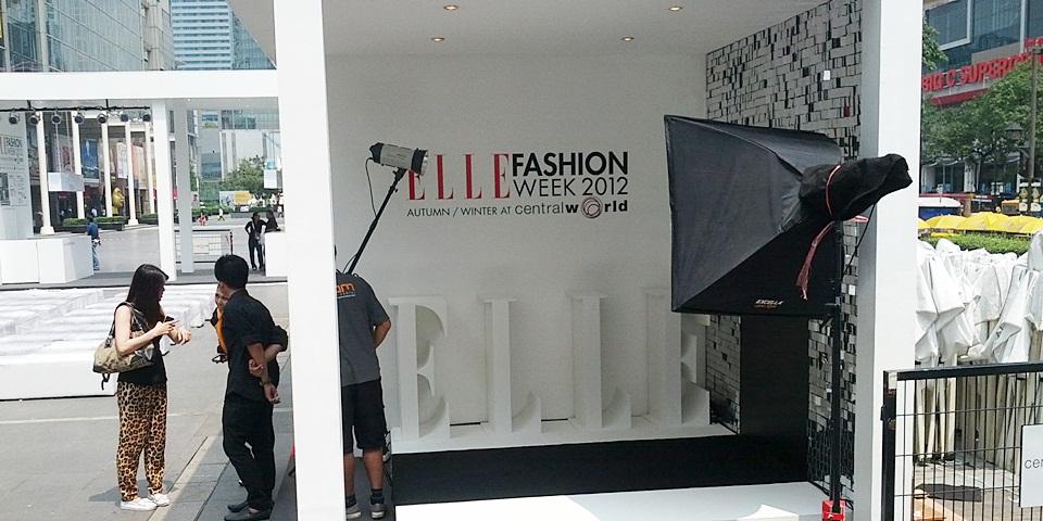 ไฟสตูดิโอ elle fashion week