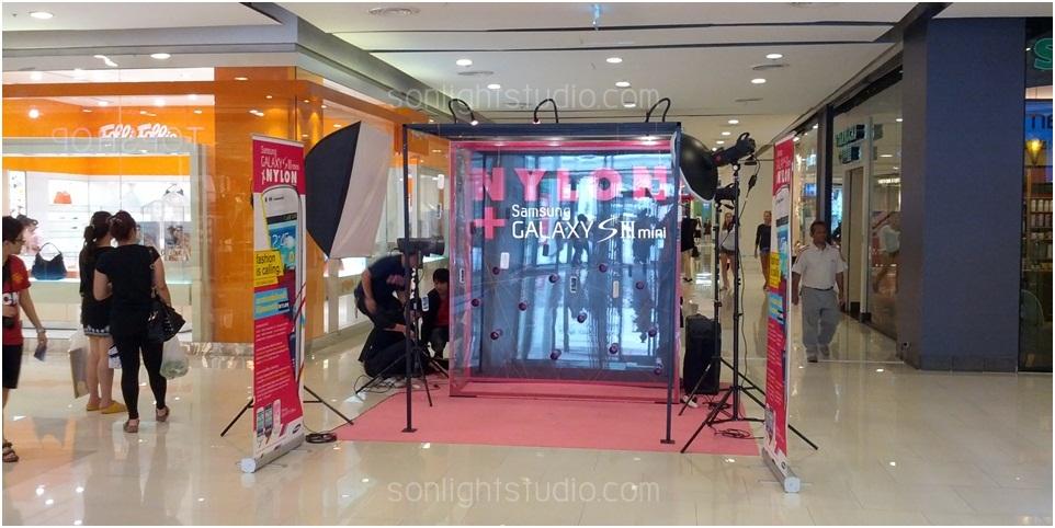 ไฟสตูดิโอ จัดบูทกิจกรรม ถ่ายรูป นิตยสาร Nylon และมือถือ Samsung