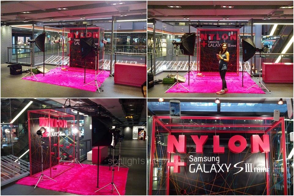 เช่าไฟสตูดิโอ จัดบูทกิจกรรม ถ่ายรูป นิตยสาร Nylon และมือถือ Samsung @SiamCenter