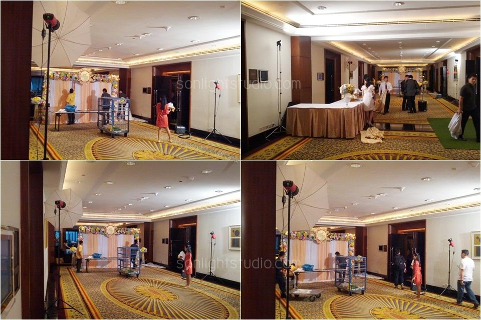 เช่าไฟสตูดิโอ ไฟต่อเนื่อง งานแต่งงาน โรงแรม JW Marriott