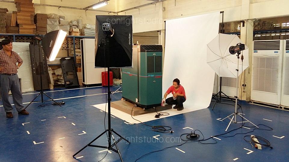 Setup ไฟสตูดิโอ เพื่อถ่ายภาพสินค้าขนาดใหญ่ ตู้ Cooling Server Rack
