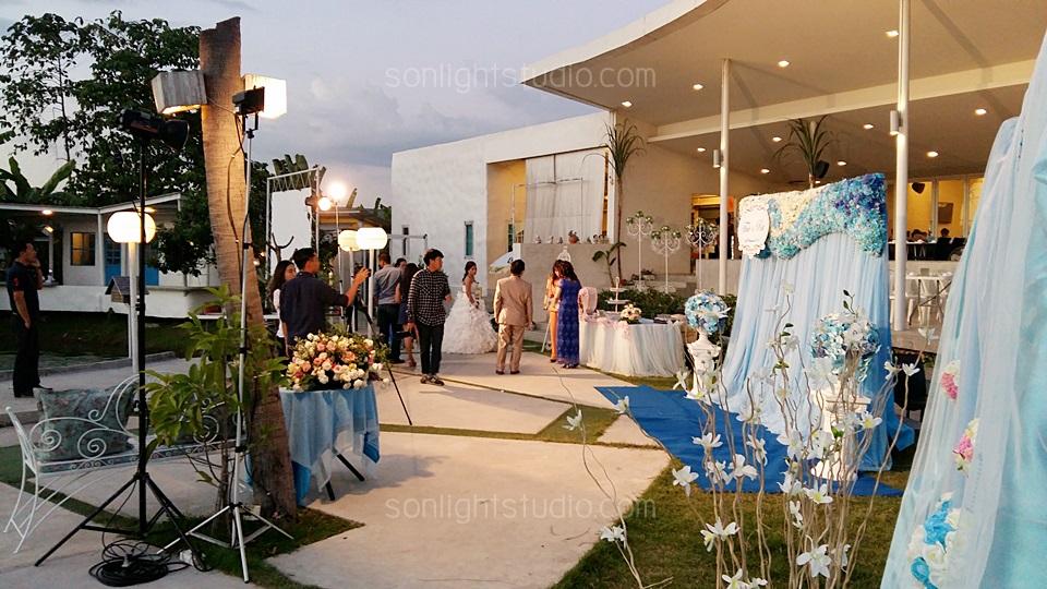 ให้เช่า ไฟสตูดิโอ ไฟต่อเนื่อง งานแต่งงาน สวนอาหารต้นทองหลาง ปากเกร็ด ราชพฤกษ์