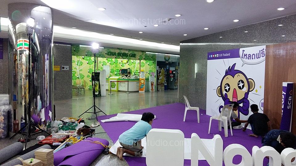 ไฟสปอตไลท์ LED 100w เพิ่มความสว่าง บริเวณ บูทธนาคารไทยพานิชย์