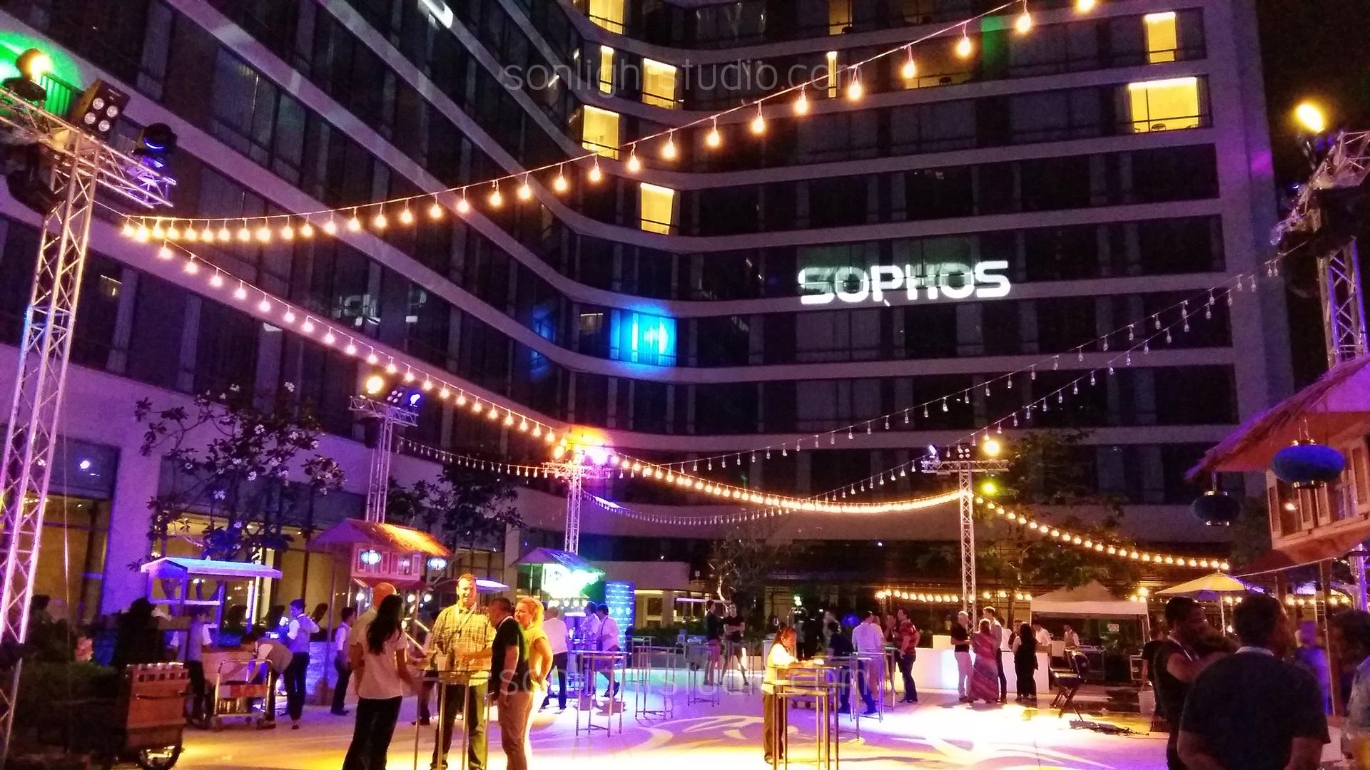 ไฟปิงปอง งานเลี้ยง บนดาดฟ้า โรงแรม Marriott Marquis สุขุมวิท22
