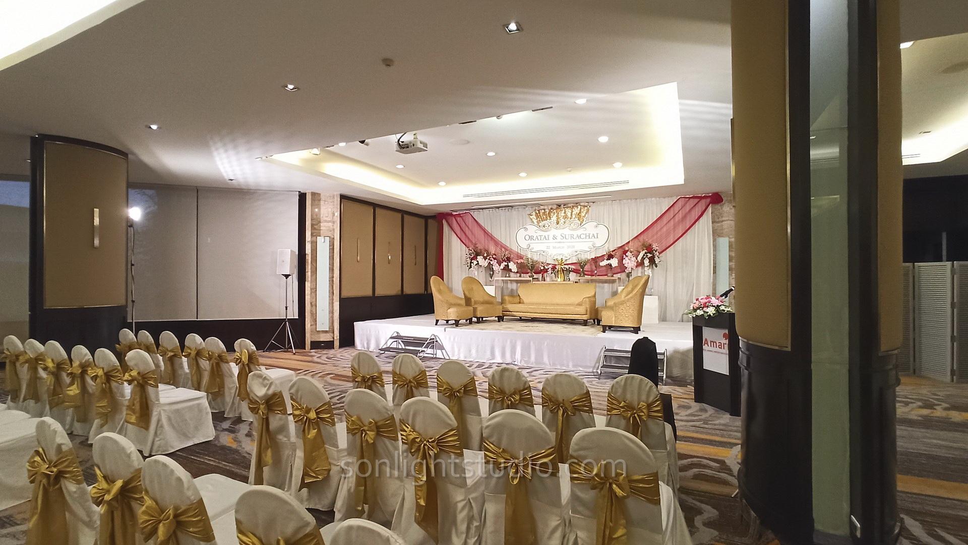 ไฟสปอตไลท์ฮาโลเจน ส่องสว่างในพิธีแต่งงาน